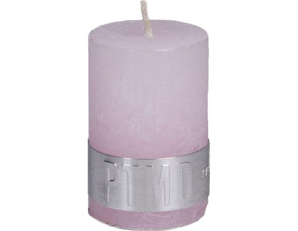 Rustic new pink pillar candle 4x6